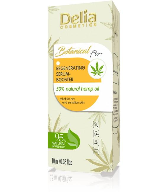 Regenerujące serum-booster 50% naturalnego oleju konopnego BOTANICAL FLOW 10ml