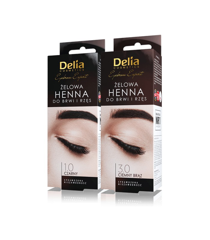 Henna Do Brwi I Rzęs żelowa Delia Cosmetics 15ml