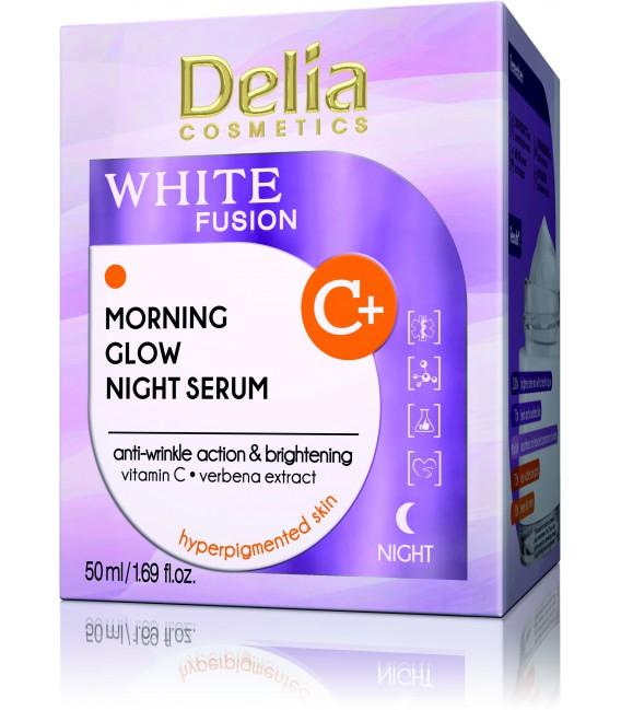WHITE FUSION Serum na noc z efektem porannego blasku z witaminą C