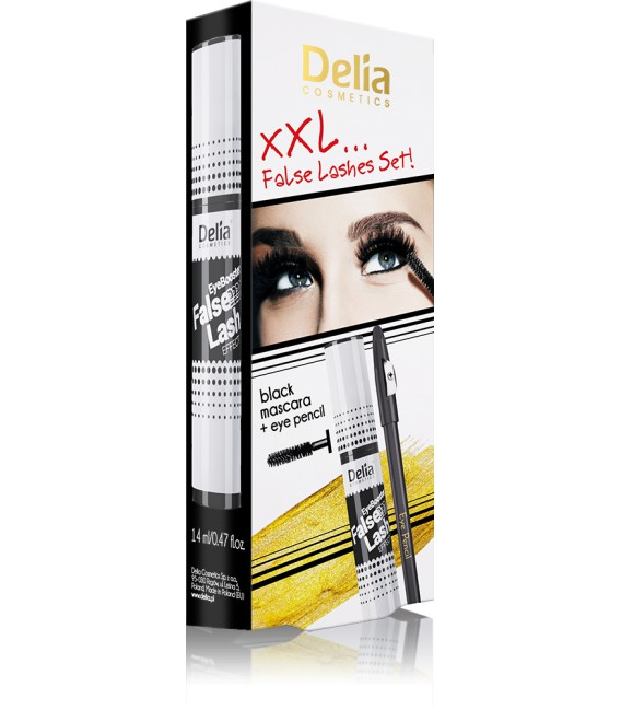 XXL FALSE LASHES SET, Zestaw makijażowy