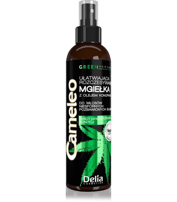 Mgiełka ułatwiająca rozczesywanie z olejem konopnym do włosów niesfornym CAMELEO GREEN 200ml