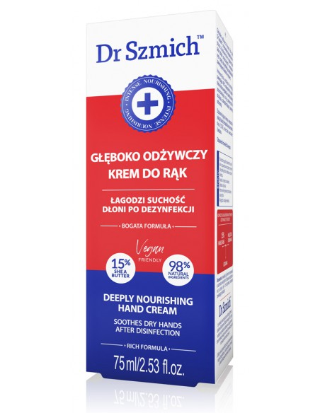 Krem do rąk GŁĘBOKO ODŻYWCZY, DR SZMICH, 75 ml