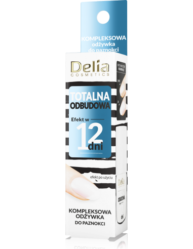 Kompleksowa odżywka do paznokci TOTALNA ODBUDOWA, efekt w 12 dni, 11ml