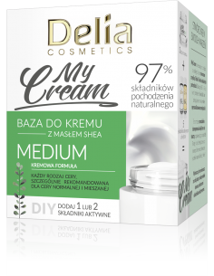 Baza do kremu MyCream MEDIUM z masłem shea, kremowa formuła, 50ml