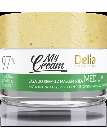 Baza do kremu MyCream MEDIUM z masłem shea, kremowa formuła, 50ml