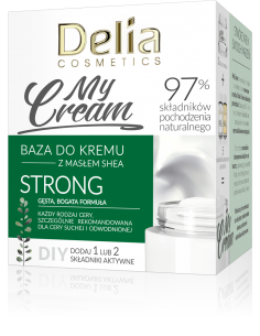 Baza do kremu MyCream STRONG z masłem shea, gęsta, bogata formuła, 50ml