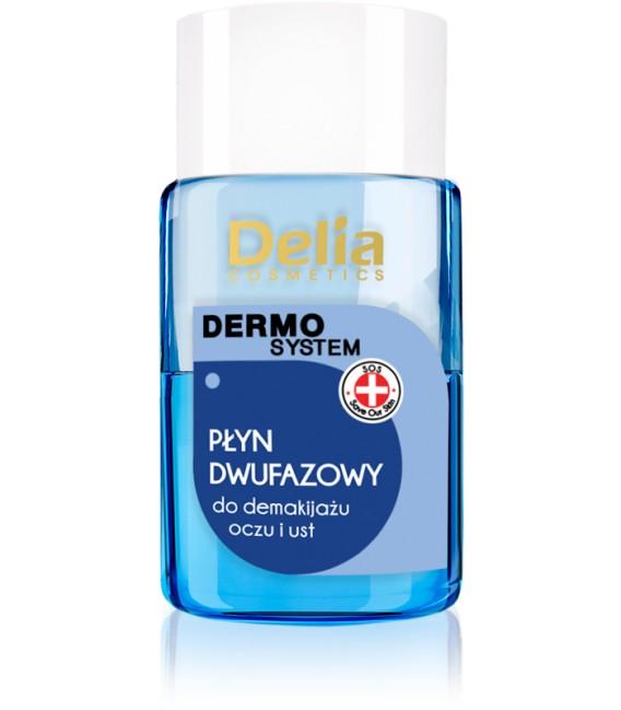 MINI Płyn dwufazowy do demakijażu oczu i ust DERMO SYSTEM DELIA COSMETICS