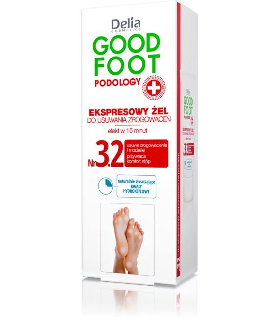 Ekspresowy żel do usuwania zrogowaceń GOOD FOOT PODOLOGY DELIA COSMETICS
