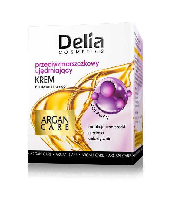 Krem przeciwzmarszczkowy - ujędrniający ARGAN CARE i kolagen DELIA COSMETICS 50 ml