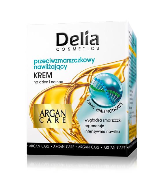 Krem przeciwzmarszczkowy - nawilżający ARGAN CARE i kwas hialuronowy DELIA COSMETICS 50 ml