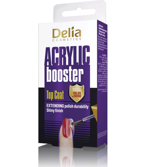 Top Coat ACRYLIC BOOSTER 100% color&shine DELIA COSMETICS 11 ml