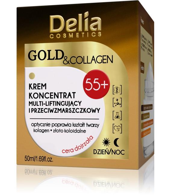 GOLD & COLLAGEN KREM koncentrat multi-liftingujący i przeciwzmarszczkowy 55+